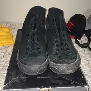 Converse All Star Hightop Blackout Size 12